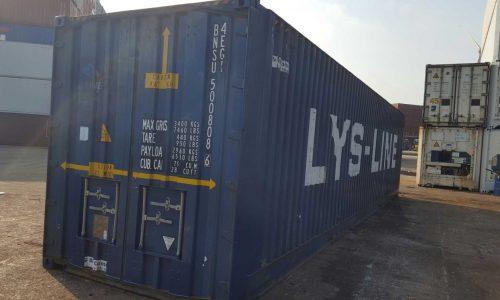 40ft high cube pallet wide container